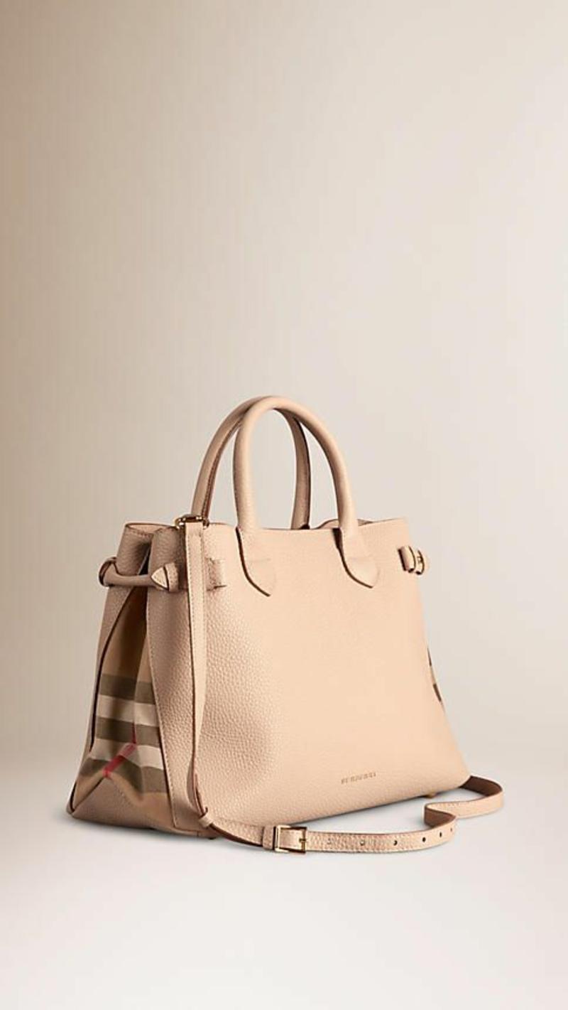 Designer Handtaschen Burberry Markentaschen nudefarben