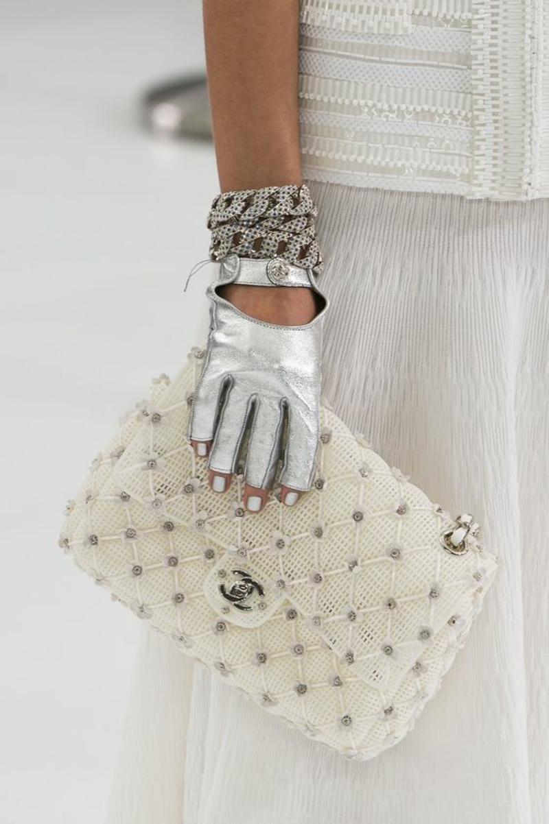 Designer Handtaschen Chanel Handtasche Damen weiß
