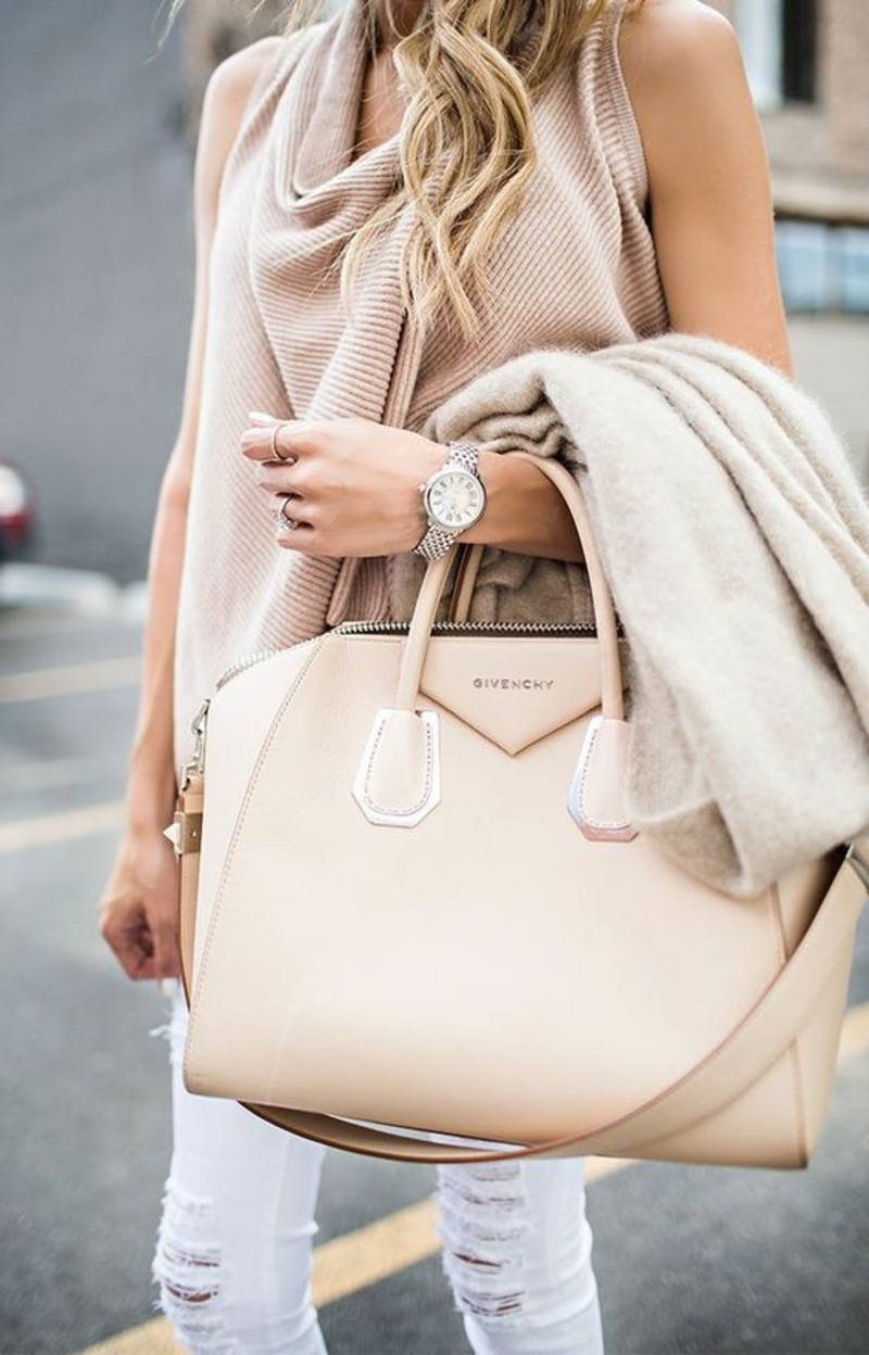 Designer Handtaschen Givenchy Handtasche Damen nudefarben