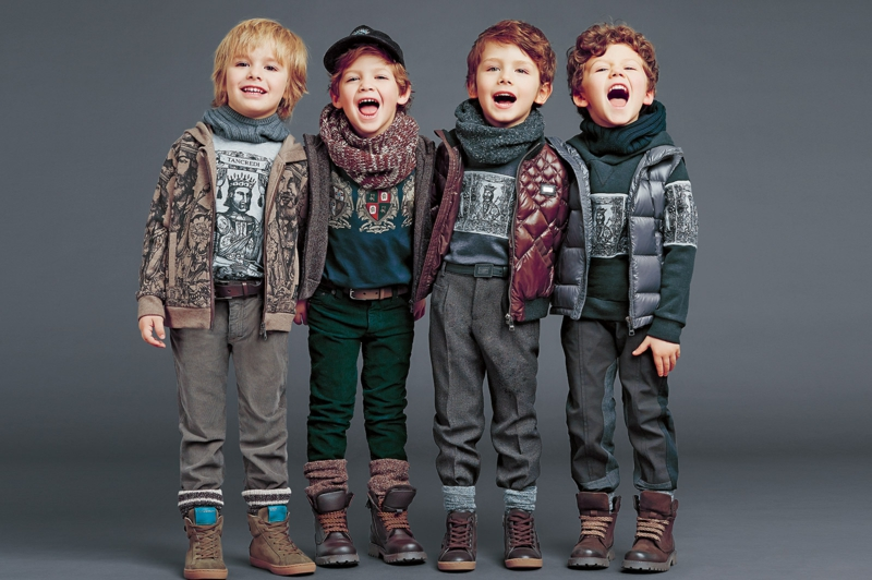 Dolce and Gabbana Kindermode Trend Jungesn Wintermode