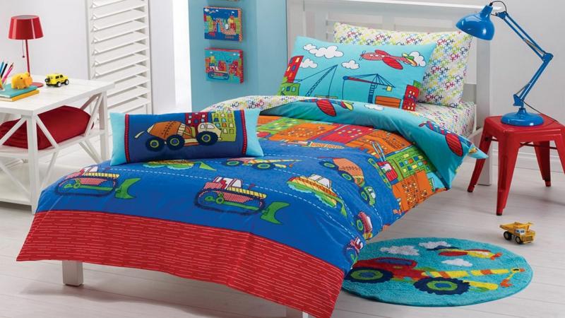 Einrichtungsideen Kinderzimmer Junge ausgefallene Kinderbettwäsche