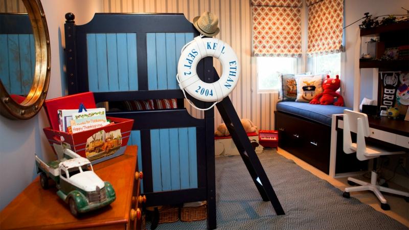 Einrichtungsideen Kinderzimmer Junge maritimer Stil