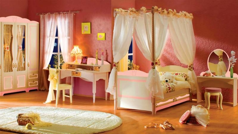 einrichtungsideen kinderzimmer gestalten mdchen kinderzimmergestaltung himmelbett - Babyzimmer Einrichten Mdchen