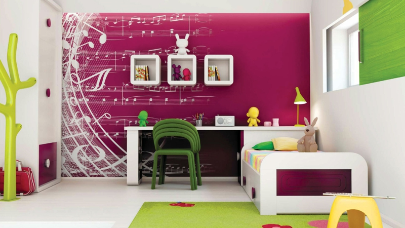 kinderzimmer wandfarbe lila verschiedene. Black Bedroom Furniture Sets. Home Design Ideas