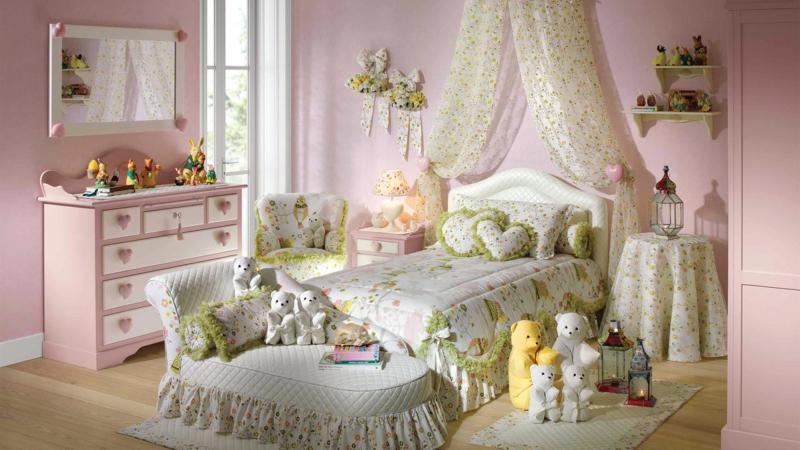 einrichtungsideen kinderzimmer mdchen romantisches mdchenzimmer - Babyzimmer Einrichten Mdchen