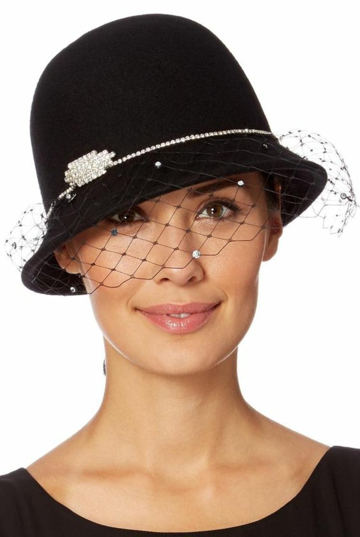Filzhut mit Netz Damenhüte Damenmode und Stylingstipps