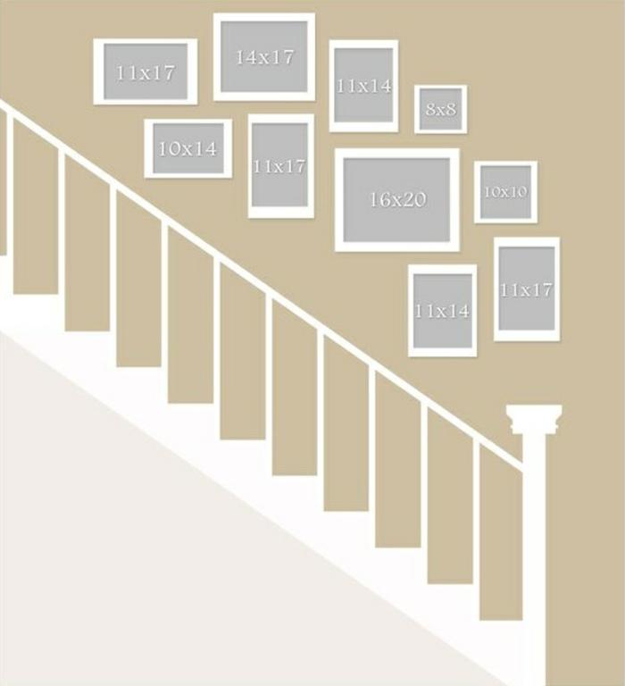 Fotowand selber machen- DIY Projekte im Treppenhaus