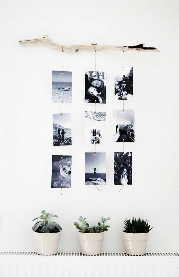 Fotowand selber machen Fotowand Ideen mit schwarz weißen Fotos