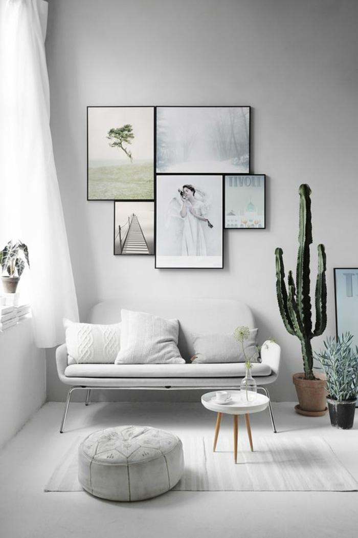 Fotowand selbst machen Fotowand Ideen skandinavischer Stil