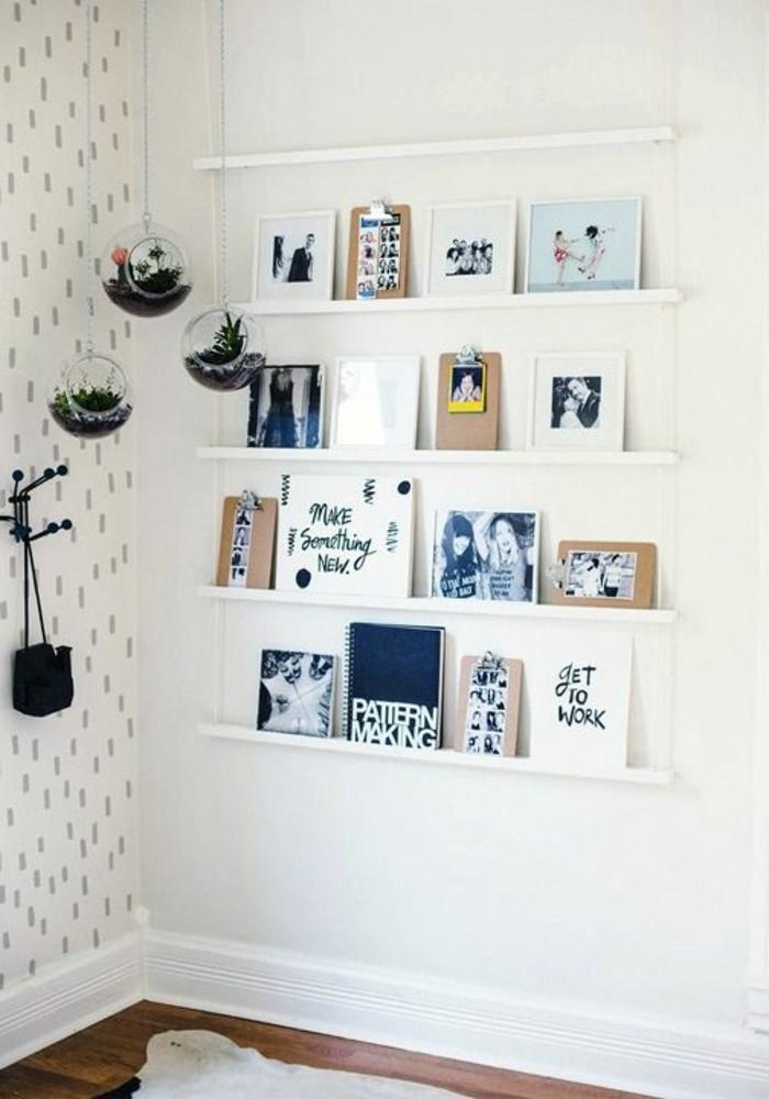 fotowand selber machen ideen f r eine kreative wandgestaltung. Black Bedroom Furniture Sets. Home Design Ideas
