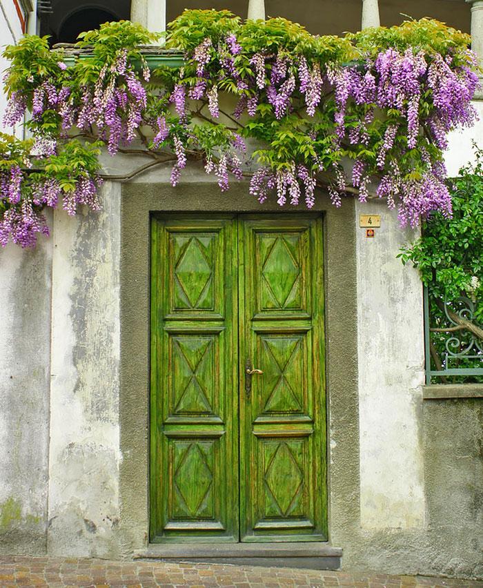 Haustüren in Farbe gestalten moderne Haustüren DIY Ideen