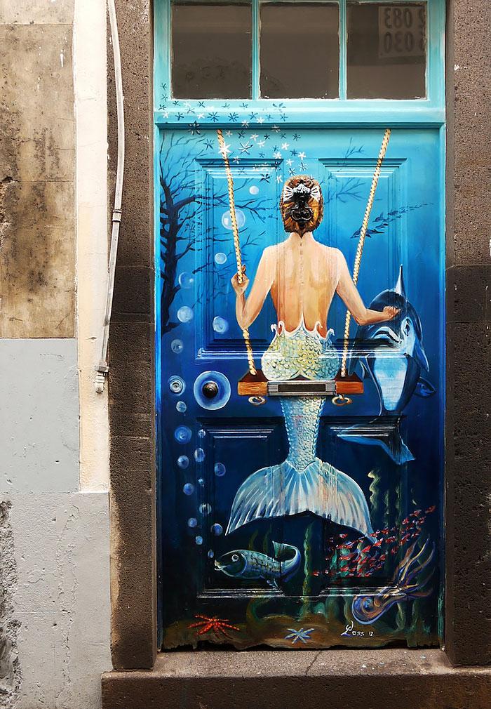 Haustüren kreativ gestalten moderne Haustüren DIY Ideen