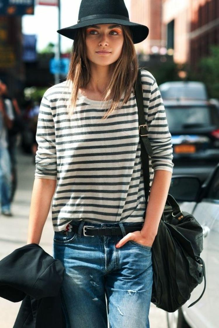 Hut Damen Straßenmode Trends und Stylingstipps