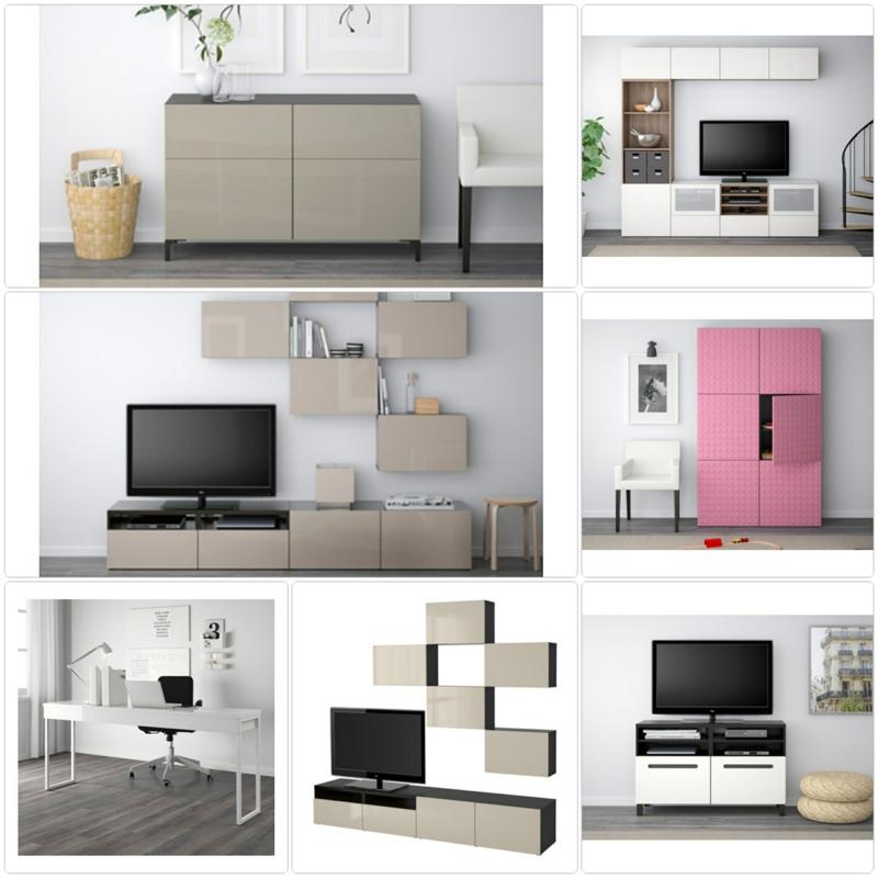 Wohnwand ikea besta  Ikea Besta System: stilvolle Möbelkollektion für mehr Stauraum