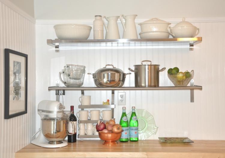 Wandregal Für Die Küche | Garderobe Aus Holz In Braun Und Weiß
