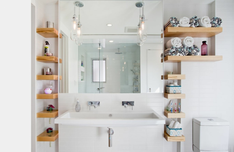 Narrow bathroom storage