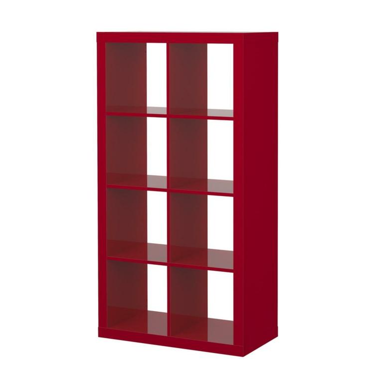 Ikea Regale Holzregal rot Stauraum praktisch