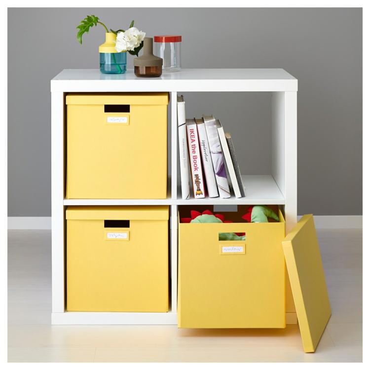 Ikea Regale Regale Holz Stauraum Schränke Kisten gelb