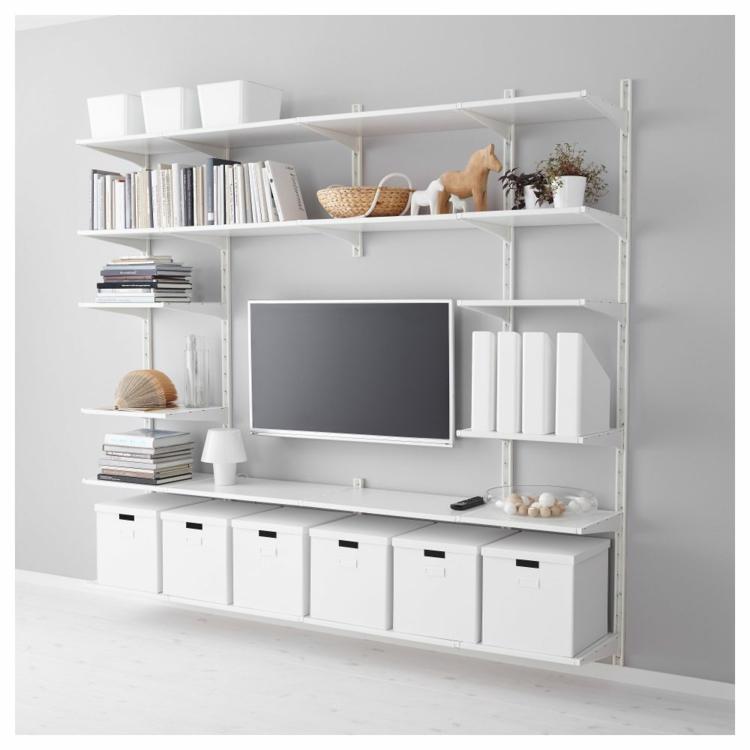 Kleiderschrank Ikea Begehbar ~ Ikea Regale Wohnzimmer Regale Stauraum Ikea TV Möbel