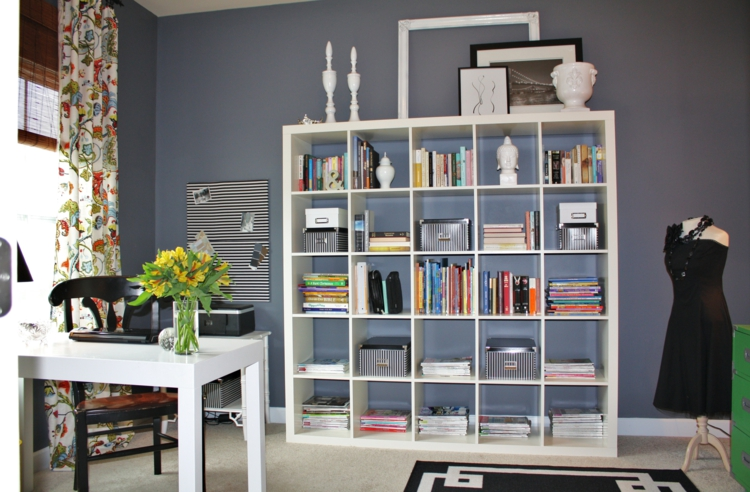 Ikea Regale Wohnzimmer Wandregal weiß Einrichtungsideen