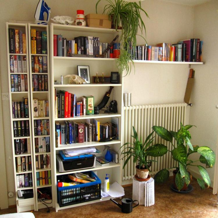 Ikea Regale Wohnzimmer Wandregal weiß Einrichtungsideen Zimmerpflanzen
