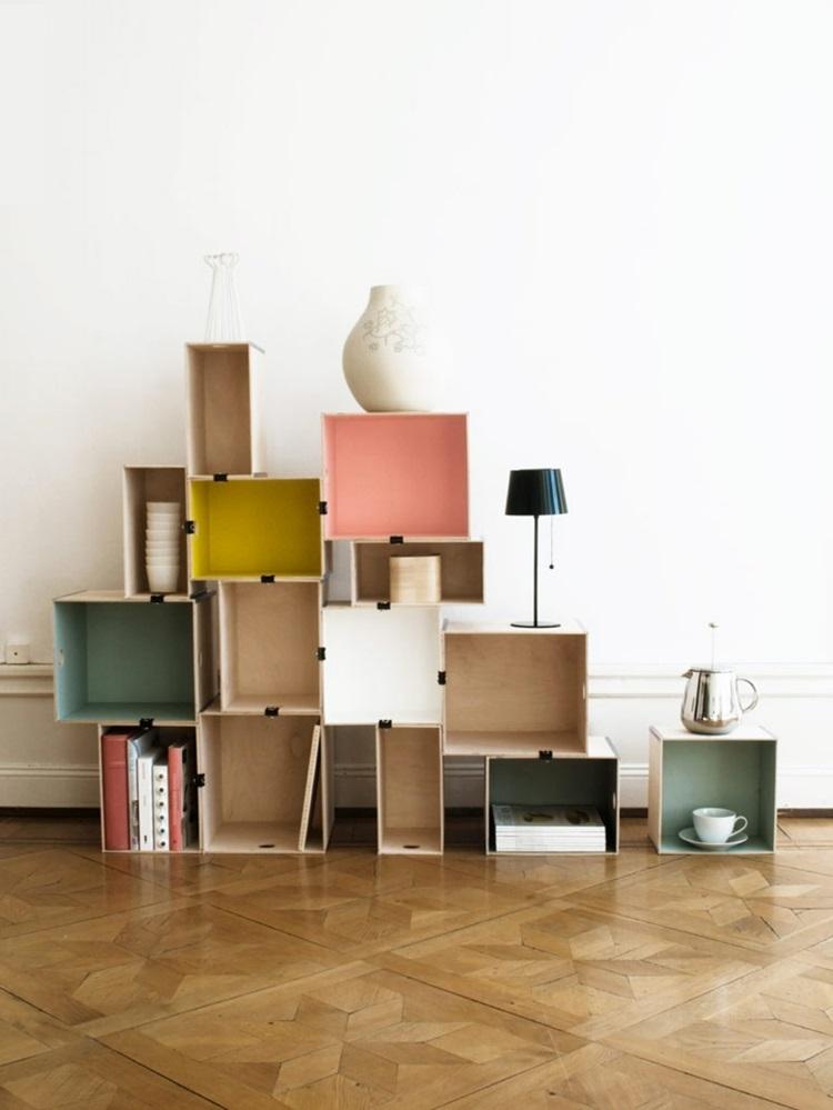 Ikea Regale Wohnzimmer Wandregale selber machen kreative Einrichtungsideen