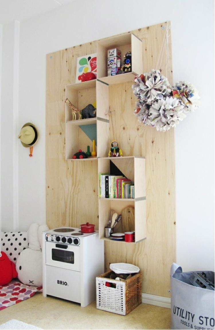 Regale moderne Holzregale Stauraum Ideen