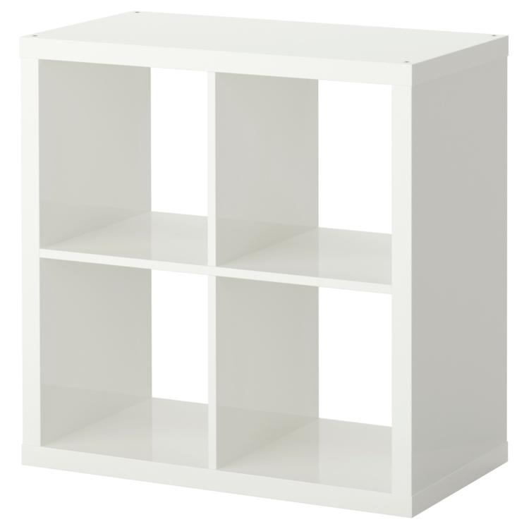 Ikea Regale praktisches Holzregal klein weiß Stauraum Ideen