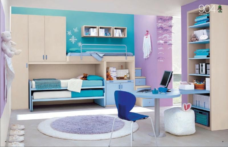 Jugendzimmer Ideen Jugendzimmermöbel Kinderbett für zwei Gästebett