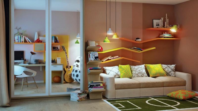 Jugendzimmer Ideen Jugendzimmermöbel Kleiderschrank Spiegel
