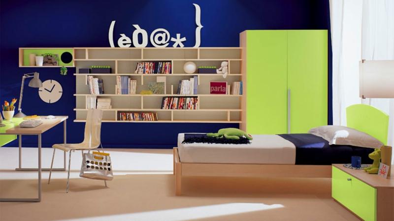 Jugendzimmer Ideen Jugendzimmermöbel Wandfarbe Blau Kindermöbel