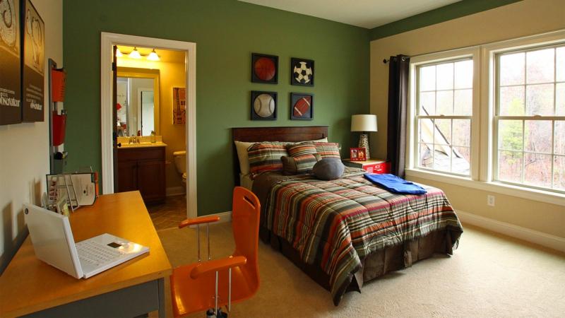Jugendzimmer Ideen Jugendzimmermöbel Wandfarbe grün