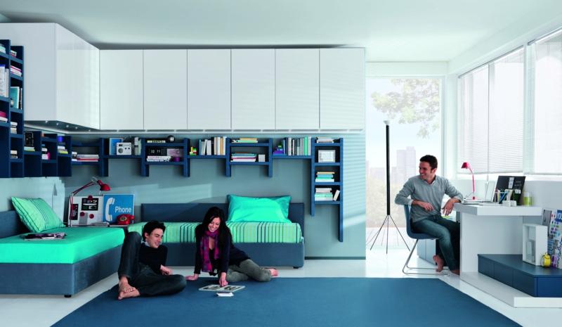 Jungen Jugendzimmer Ideen Jugendzimmermöbel in Blau
