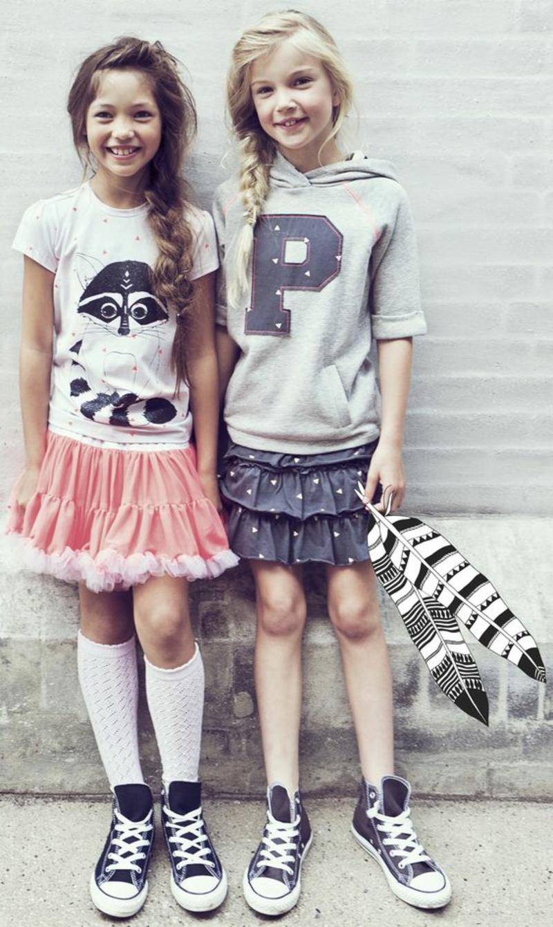 Kinderbekleidung Trends aktuelle Straßenmode Mädchen