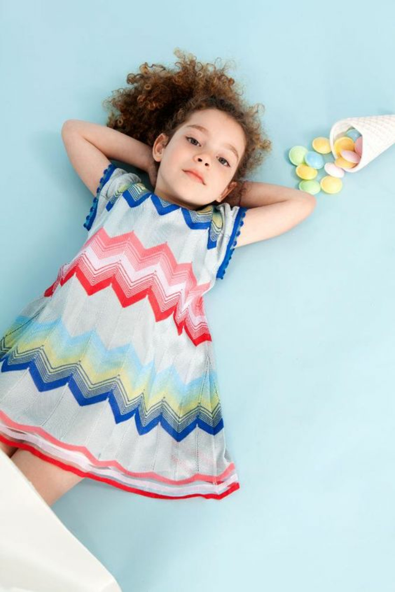Kindermode Trends 2016 Bilder Missoni farbiges Chevron Muster