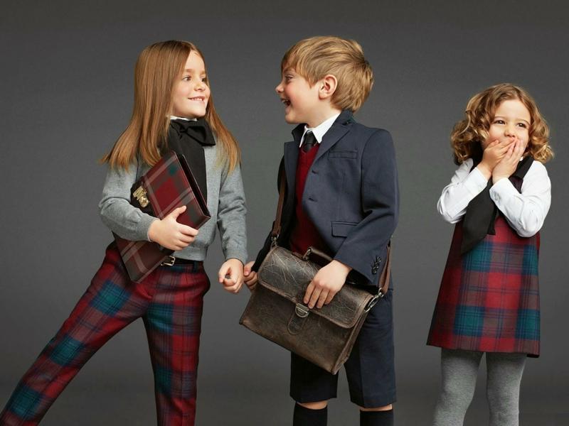 Kindermode Trends Schulmode Karomuster Kinderbekleidung
