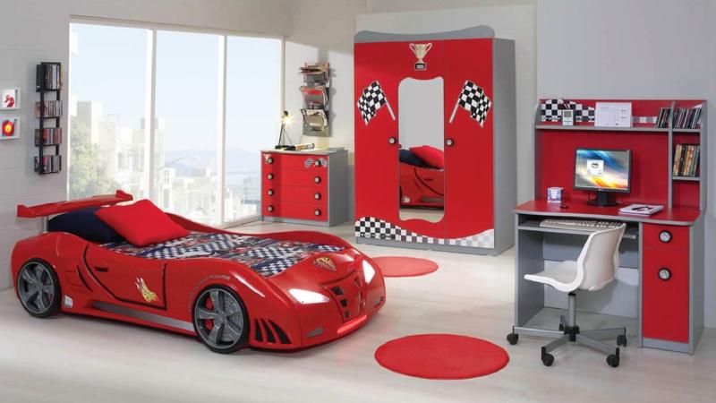 Kinderzimmer junge auto  Kinderzimmer Junge: 50 Kinderzimmergestaltung Ideen für Jungs