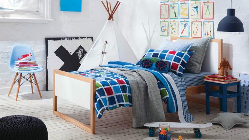 Kinderzimmer Junge Kindermöbel Wanddeko Kinderbettwäsche