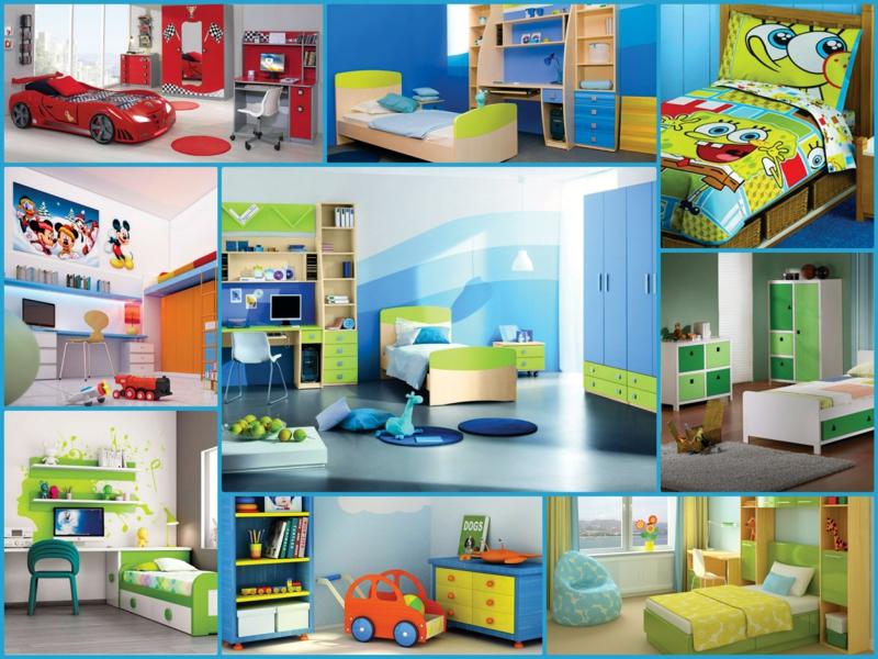 Kinderzimmer Junge Kindermöbel Wandfarbe Blau