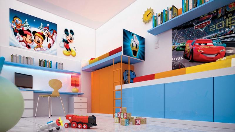 Kinderzimmer Junge Kindermöbel Wandtattoos Zeichentrickfilmen