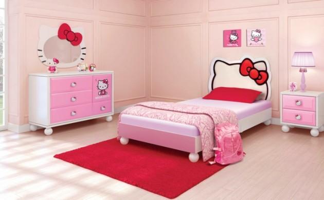 Kinderzimmer-Mädchen-Kinderzimmer-gestalten-Hallo-Kitty-Mädchenzimmer