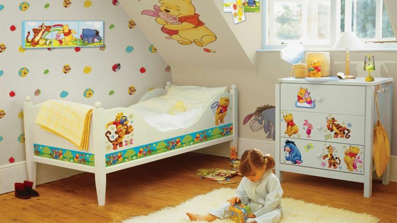 Kinderzimmer Mädchen Kinderzimmer Gestalten Mädchenzimmer Pu Der Bär