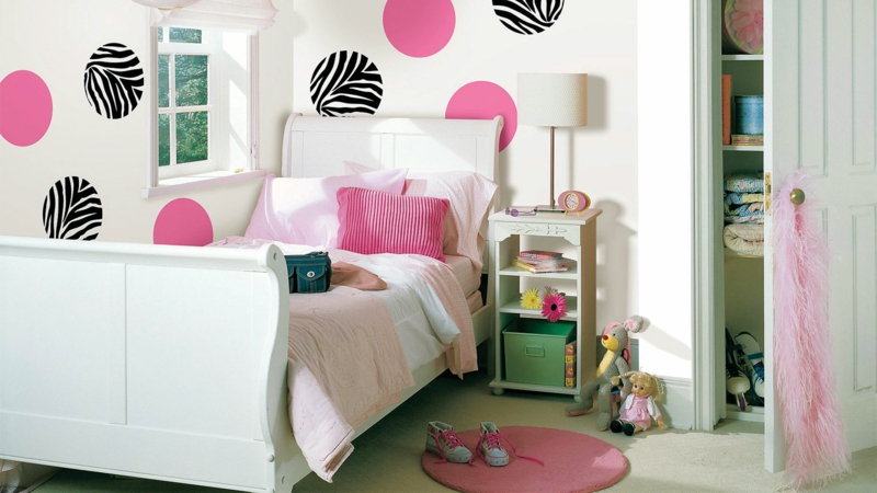 wand gestaltung mdchen kinderzimmer. Black Bedroom Furniture Sets. Home Design Ideas