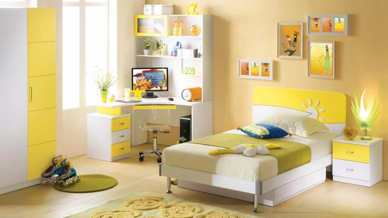 Babyzimmer mädchen gelb  Kinderzimmer Mädchen: 60 Einrichtungsideen für Mädchenzimmer