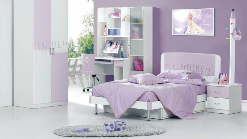 Kinderzimmer Mädchen Kinderzimmer gestalten lila Mädchenzimmer
