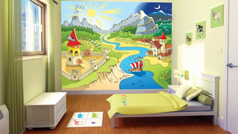 Kinderzimmer für Jungs Einrichtungsbeispiele Wandgestaltung Ideen