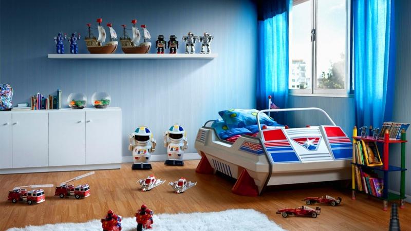 Kinderzimmer für Jungs Ideen Einrichtung Möbel Kinderbett