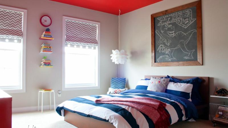 Kinderzimmer für Jungs Ideen schwaze Wandtafel