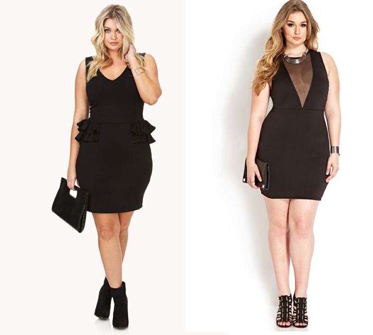 Kleider in großen Größen schwarze Abendkleider