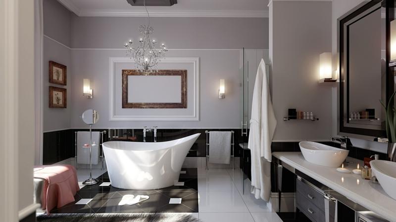 Luxus Badezimmer einrichten Badaccessoires und Badzubehör